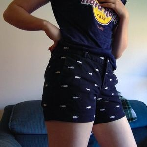 Banana Republic Blue Whale Printed Shorts, Size 4